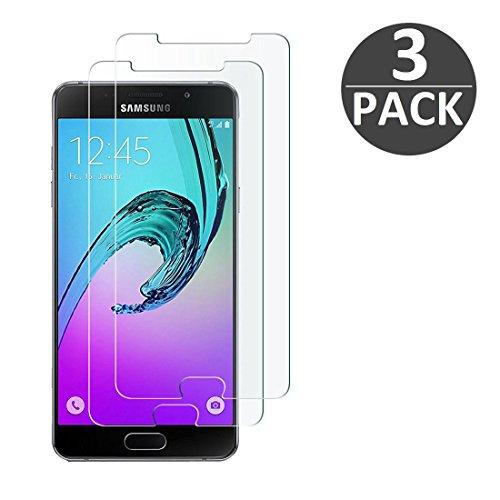 [3 Stück] Samsung Galaxy A5 (2016) Schutzfolie Panzerglas, wortek Panzerfolie [Anti-Kratz, Ultra-Clear] 9H Displayschutz Schutzglas