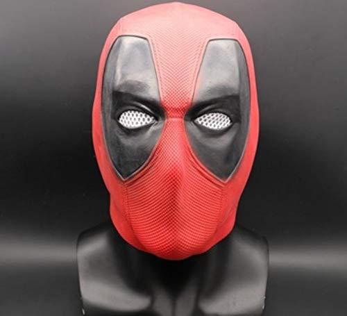 Sonwaohand Halloween Tote Waiterin Maske Latex Kapuze Deadpool Schmücken Weihnachts-Cosplay Maske Kopftuch Mittelcode 1 (Deadpool Halloween Lustig)