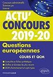 Questions européennes 2019-2020 - Cours et QCM