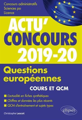 Questions européennes 2019-2020 - Cours et QCM par Lescot Christophe