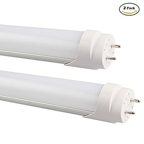 2x B2ocled-60cm T8Tube LED 9W Blanc Froid 6500K, Alimenté par Dual-end (Glow), verre dépoli, Instant on, T8T10T12fluorescent ampoules de remplacement, blanc froid, 1.2m