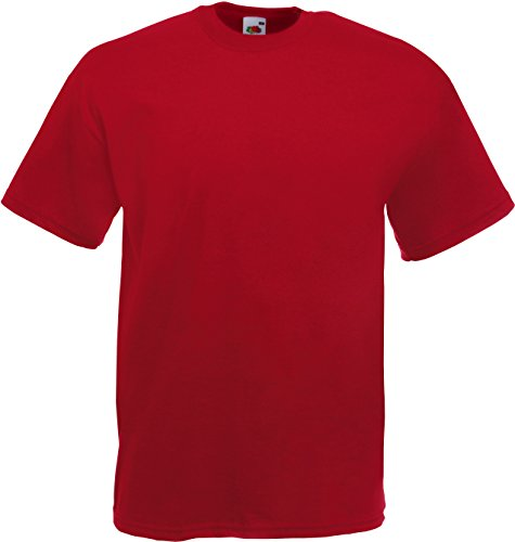 Fruit of the Loom Valueweight T-Shirt Dunkelrot M