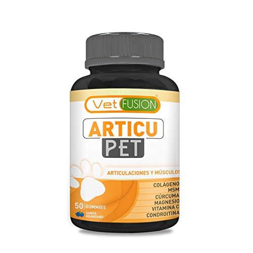 41wkVxnAO2L - Antiinflamatorio Natural para Perros y Gatos | Colágeno + Cúrcuma + Condroitina + Magnesio + MSM + Vitamina C | Combate el dolor y la inflamación | Recupera su energía y movilidad | 50und. sin azúcar