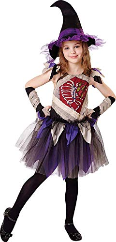 Onlyglobal Kinder Mädchen Halloween Party Buch Woche Tag Zombie Hexe Kostüm - Multi, Medium 122cm - 134cm