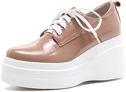 KJJDE Zapatos con Plataforma Mujeres WSXY-A0504 Charol Liso Cerrada De Salón