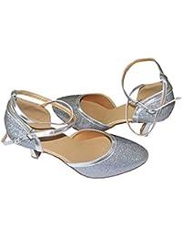 Colorfulworldstore Zapato de baile moderno con brillantitos multicolor en morado/dorado/rosa/plateado/azul