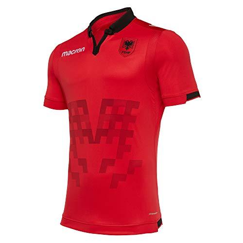 Macron FSHF 1930 Albania ® Original Fan-Artikel Authentic Heimtrikot · (Offizielles Fußball-Verband Albanien Lizenzprodukt) · Saison 2019/2020, Größe XL