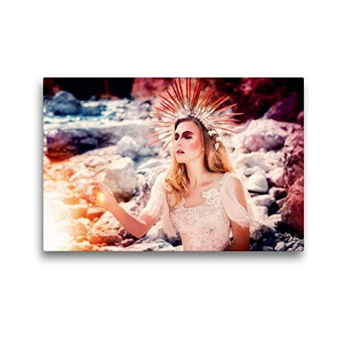 Calvendo Premium Textil-Leinwand 45 cm x 30 cm quer, König des Sommers | Wandbild, Bild auf Keilrahmen, Fertigbild auf echter Leinwand, Leinwanddruck: EIN modernes Märchen Menschen - Roman König Kostüm