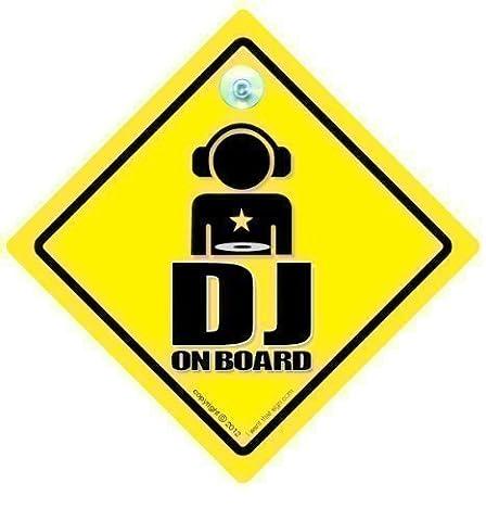 DJ on Board Auto Schild, DJ-Zeichen, An Bord Stoßstangenaufkleber, Scheiben Jockey, Aufkleber, Auto-aufkleber, MC, Band, Hip Hop, Lustiger Baby Board, Grafik, Grafik