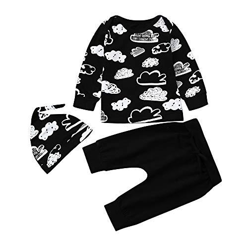 (Neugeborenes Babybekleidung Baby Mädchen Jungen Bekleidungssets Schlafanzüge Cloud Print Babymode T Shirt Tops + Hosen Outfits Kleidung Set Bio-Baumwolle Nachtwäsche Felicove)