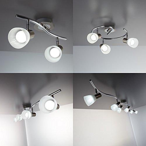 Led deckenleuchte schwenkbar inkl 3 5 5w leuchtmittel for Deckenlampe lang