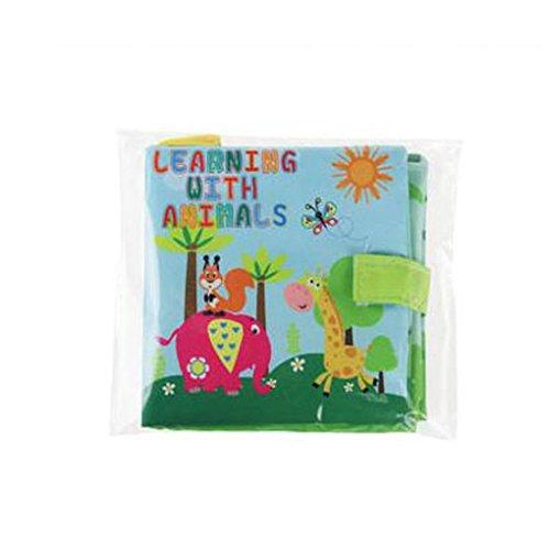 Uokoki Infantil del bebé Juguetes blandos libros de paño del susurro de sonido para la Educación Sonajero Cochecito