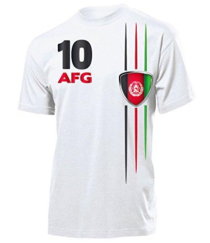 love-all-my-shirts Afghanistan Fanshirt 5840 Herren T-Shirt (H) Gr. M (T-shirt Weißes Afghanistan)