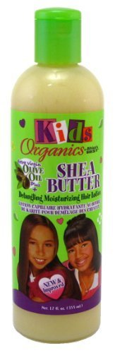 Africa S Best Kids Organics Hair Lotion, le beurre de karité detang Ling Hydratant 12 oz by Africas Best [Beauty] (English Manual)