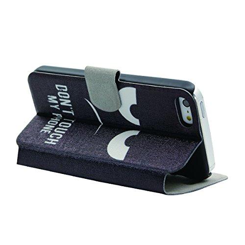 Voguecase® Pour Iphone SE Coque, Etui Housse Cuir Portefeuille Case Cover (plume grise 01)de Gratuit stylet l'écran aléatoire universelle my phone