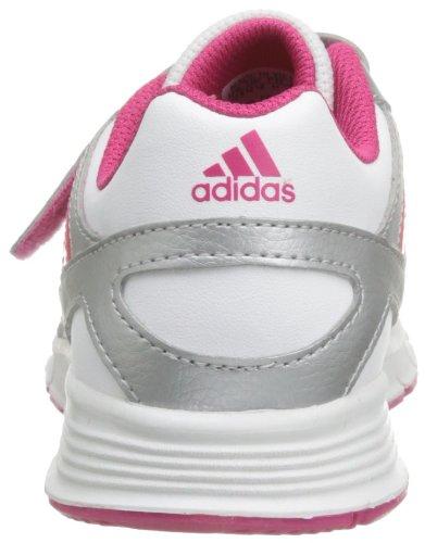 adidas - Cleaser Cf K, Scarpine primi passi Unisex – Bambini Bianco (Blanc (White/Ray Pink/Silver))