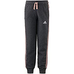 adidas YG 3S Slim Hose, Mädchen, Mädchen, BP8638, Grau (Brgrin/Suabri)