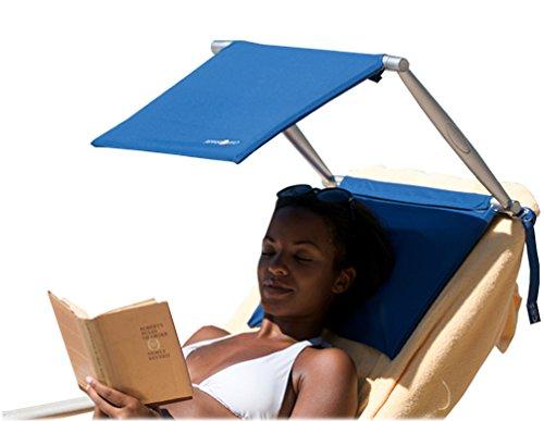 Cush n Shade - Parasol portátil y cojín modelo nuevo, color azul