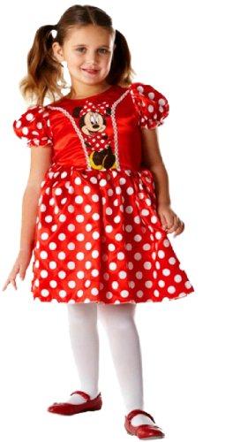 erdbeerloft - Mädchen Maus Kostüm- Minnie Mouse Comic, rot weiß, 3-4 Jahre