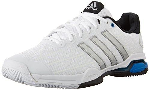 Chaussures Adidas Barricade Club de tennis, Semi solaire Lime / ngtmet / noir, 6,5 M Us White/Metallic Silver/Black