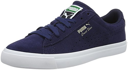 Puma Unisex-Erwachsene Court Star Vulc Suede Low-Top Blau (PEACOAT-puma White 03)