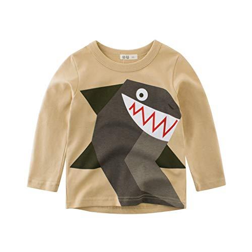 (Selou Langer Ärmel Kinder Langarmshirt Kinderkleidung Cartoon Dinosaurier T-shirt Top Pullover Hemd grundiert Mädchen Kletteranzug sweatshirt mantel Kleinkind Jungen Beiläufiges hoodie Unterhemd)