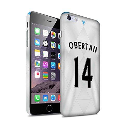 Offiziell Newcastle United FC Hülle / Matte Snap-On Case für Apple iPhone 6S+/Plus / Pack 29pcs Muster / NUFC Trikot Away 15/16 Kollektion Obertan