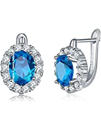 Jewels Galaxy Crystal Elements Exclusive Sparkling Splendid Platinum Plated Clip-on Earrings For Women/Girls