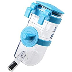 Paor 350ml perro de mascota botella de agua portátil de viaje para caja jaula