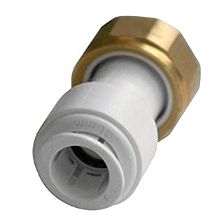 Bulk Hardware BH04548 Push Fit Tap Connector Straight, 15 mm x 3/4 inch