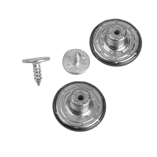 ELECTROPRIME® 150Set 17mm Hammer/Press On Silver Copper Denim Jeans Snap Buttons with Tack