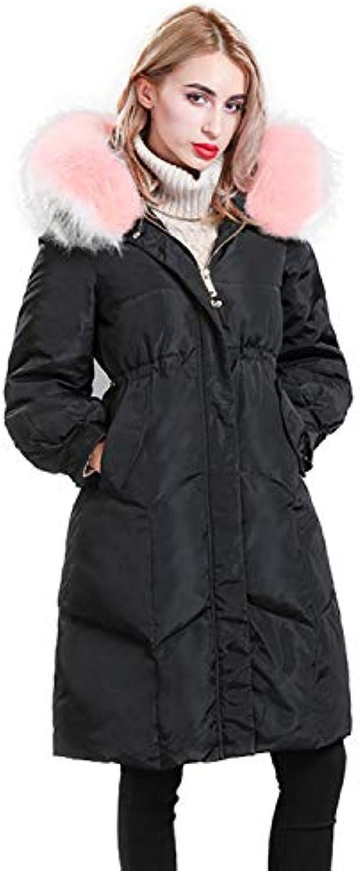 Piumino Sottile Moda Donna Autunno Inverno Collo da di Pelliccia Collo  Antivento con Cappuccio da Collo 238e281383a