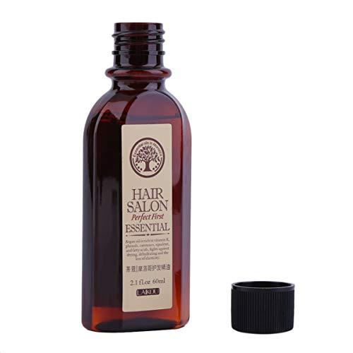 WEIWEITOE 60 ML LAIKOU Multifunktionale Haarpflege Marokkanischen Reinen Arganöl Ätherisches Trockenes Haar Typ Behandlungen Öl Für Feuchtigkeitsspendende Haar, Multicolor,