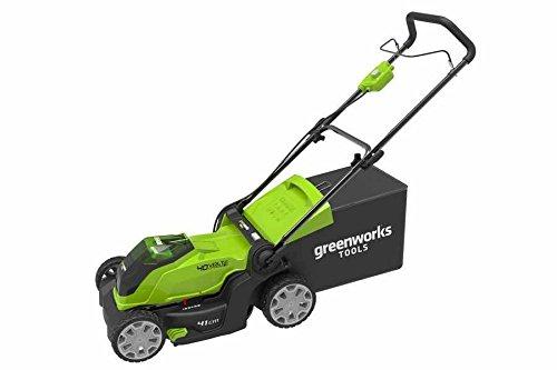 Greenworks Tondeuse à gazon sans fil 41cm 40V Lithium-ion avec 2 batteries...