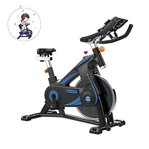 LieYuSport Heimtrainer Fahrrad für Zuhause,Spinning Bikes Fahrrad Ergometer Fahrrad Verstellbarer Lenker Widerstand,Multifunktions-APP Liest die Herzfrequenz Kalorien usw,Multifunktionale Halterung