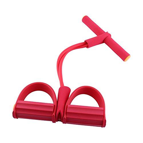 Multifunktionelle Hüfte Bauch Leib Bein Expander Mini Tragbares Fitnessgerät Häusliche Trainingsgerät Fitness Ausrüstung ( Farbe : Rot )