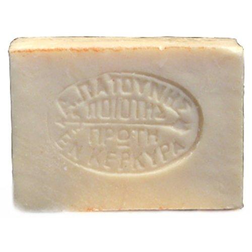 Savon à l'huile d'olive tradoro - Fabriqué à la main par Patounis, usine de savon implantée à Corfou depuis 1850 - 100 % huile d'olive végétalienne - Sans parfum, ni additif - Idéal pour les personnes allergiques - 90 g