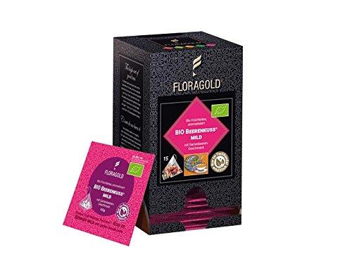 BIO Früchtetee »Beerenkuss« Floragold Pyramiden-Teebeutel 1 Pack - Beste Futon