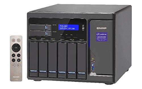 Qnap  TVS-882-i3-8G 3.7GHz DualCore 8-Bay NAS 36TB Bundle 6 x 6TB WD60EFRX WD Red | 0789470825138