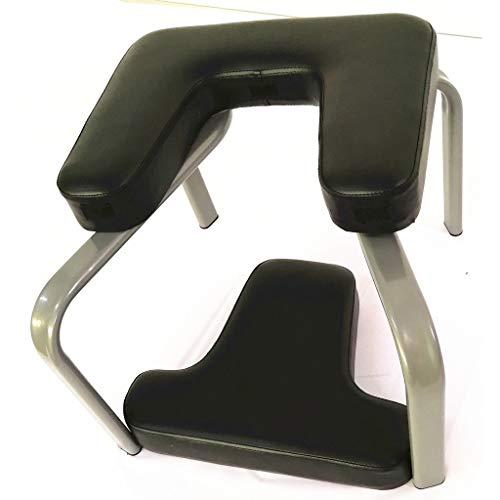 ZHEN GUO Yoga-Inversionsbank für Training, Fitness und Fitnessstudio, Hochleistungsyoga-Stuhl Balanced Bodylift Headstand Stool with Pad (Farbe : Schwarz)
