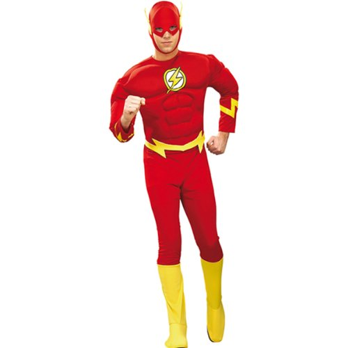 NEU Herren-Kostüm The Flash Deluxe, Gr. XL