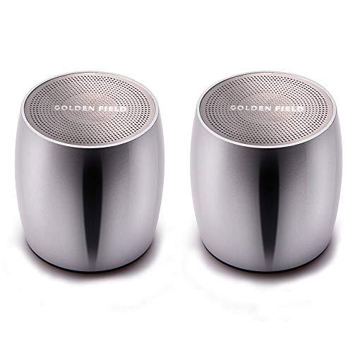 Bluetooth-Lautsprecher Golden Field TWS Stereo-Wireless-Audio-Lautsprecher mit Super-Bass, kraftvoller Lautstärke und legiertem Körper, Bluetooth 4.2 für iPhone, iPad, Android-Handy, Tablet - Tragbar Ipad Bluetooth Lautsprecher