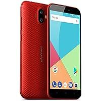 """Ulefone S7-4G Dual SIM Smartphone Senza Contratto (Display HD 5.0"""", Processore quad core, Fotocamera posteriore doppia, 2GB + 16GB, Android 7.0, 2500 mAh, WIFI, Bluetooth, GPS) Rosso"""