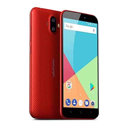 Ulefone S7 (2GB+16GB) - Smartphone Libre Textura de Superficie 3D Única, 5.0' 720 * 1280, Android 7.0, 2GB+16GB, Batería 2500mAh, Cámara de 13+5MP/5MP, MTK6580A Quad-Core, Doble SIM (Rojo)