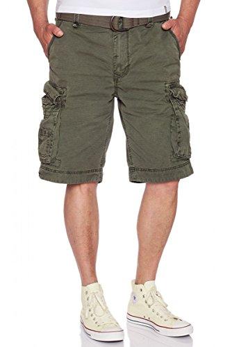 JET LAG Take off 8 Cargo Shorts mit Gürtel in fünf verschiedenen Farben Oliv