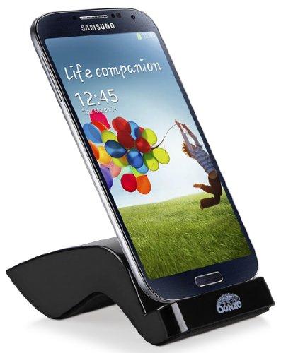 DONZO USB Docking-Station|Ladegerät für Samsung Galaxy S4 / I9500 / I9505 inkl. micro-USB Daten-Kabel Schwarz -