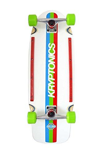 Kryptonics, Tavola da skateboard Krypstik Board, serie retrò 80's, Multicolore (Rot-Grün-Blau-Weiss)