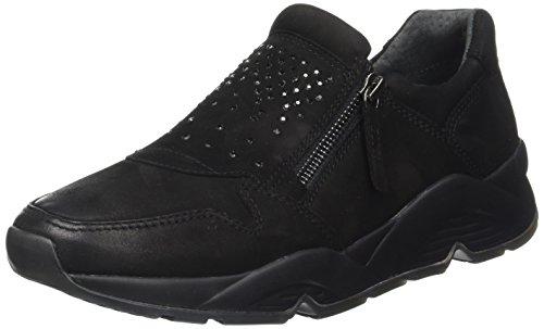 Gabor Shoes Comfort Basic, Derby Femme Noir (Schwarzstrass/s.s)