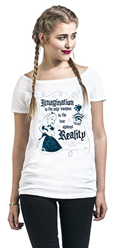 Alice im Wunderland Imagination Girl-Shirt Weiß Weiß