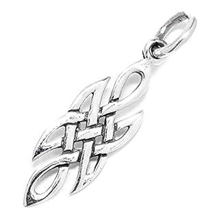 Windalf Zarter Keltischer Anhänger AÍNA h: 2.5 cm Celtic Pagan Hochwertiges Silber